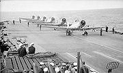 Warbird picture - Skuas of 800 Naval Air Squadron on the flight deck of HMS Ark Royal