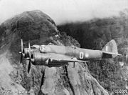Beaufighter of No. 30 Squadron RAAF over the Owen Stanley Range, New Guinea, 1942