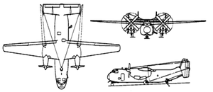 Airplane Pictures - Orthographically projected diagram of the C-2A Greyhound.