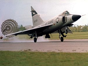 Warbird Picture - F-102 from the 125th Fighter Interceptor Group, Florida Air National Guard, deploys braking parachute