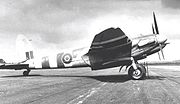 Airplane Pictures - Mosquito FB.VI of 613 (City of Manchester) Squadron wearing D-Day stripes at RAF Lasham in June 1944
