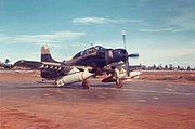 Warbird pictures - A 1st SOS A-1E carrying a BLU-72/B, 1968.