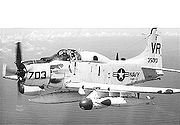 EA-1F (AD-5Q) ECM-aircraft, BuNo 135010, of CVW-9 in 1966