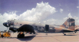 Warbird Picture - An AC-47D, 43-49010, on the ground at Udorn Royal Thai Air Force Base, June 1970. A C-47 is displayed at the Air Force Armament Museum marked as this aircraft