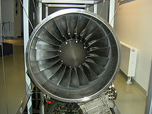 Airplane Picture - The aircraft's turbofan engine (front)