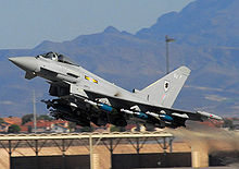 Airplane Picture - A Royal Air Force Eurofighter Typhoon FGR4 at Nellis AFB in Nevada, USA