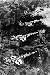 Airplane picture - Four-aircraft formation of F-104A-5-LO