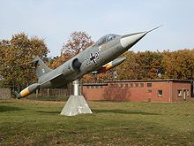 German F-104G reconnaissance displayed in on the air base in Schleswig, Schleswig-Holstein