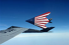 Airplane Picture - A pair of specially painted F-117 Nighthawks fly off from their last refueling by the Ohio Air National Guard's 121st Air Refueling Wing.