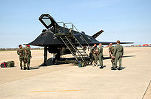 Airplane Picture - An F-117A parked at Langley AFB, Virginia.