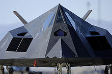 Airplane Picture - The front side of an F-117