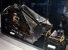 Airplane Picture - Canopy of F-117 shot down on 27 March 1999, near the village of Buđanovci, Serbia (Museum of Aviation in Belgrade).