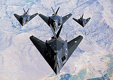 Airplane Picture - F-117s in formation.