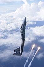 Airplane picture - F-15D from the 325 Fighter Wing based in Tyndall AFB, releasing flares