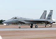 Airplane picture - USAF F-15C taxiing for takeoff