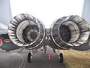 Airplane picture - Pratt & Whitney F100 turbofan engines of an F-15C Eagle