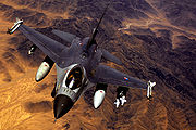 Airplane Pictures - An F-16 of the Royal Netherlands Air Force over Afghanistan.