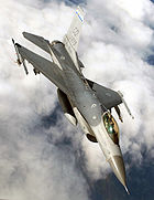 Airplane Pictures - A USAF F-16C of the Colorado Air National Guard (COANG) disengages from a refueling boom (fuel port is still open) over Canada