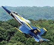 Airplane Pictures - The Blue Angels no 6 FA-18A