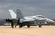 Airplane Pictures - A Marine F/A-18D of VMFAT-101 prepares for takeoff