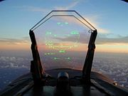 Airplane Pictures - Heads up display (HUD) in an FA-18 Hornet
