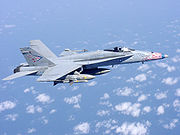 Airplane Pictures - A US Navy FA-18 in flight