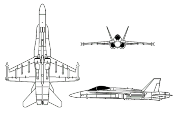 Airplane Pictures - diagram of the F/A-18 Hornet