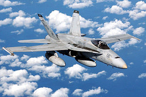 Airplane Pictures - A USMC FA-18 in flight