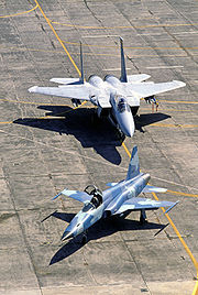 Airplane picture - RTAF F-5 and USAF F-15 in the background