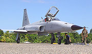 Airplane picture - Honduran F-5E Tiger preparing for takeoff