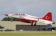 Airplane picture - NF-5B of the Turkish Stars aerobatic team at RIAT 2008, England.