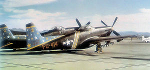 Airplane Pictures - F-82F-NA 46-414 of the 52d Fighter Group, McGuire AFB, New Jersey in black night fighter motif