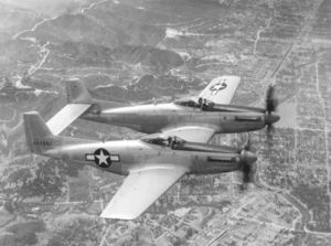 Airplane Pictures - The second prototype North American XP-82 Twin Mustang (44-83887) being flight-tested at Muroc Army Airfield, California