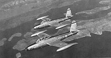 Airplane picture - A pair of Yugoslav AF F-84 Thunderjets belonging to the 204th Aviation Regiment, flying over Kornati Islands, Croatia