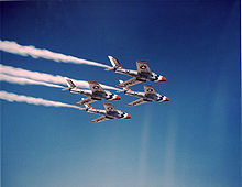 Airpane picture - F-84F Thunderstreaks flown by USAF Thunderbirds