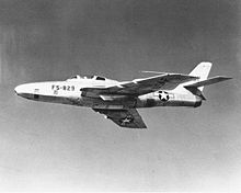 Airplane picture - RF-84F Thunderflash, the reconnaissance version of the F-84F