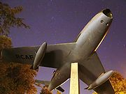 Airplane Pictures - F-86 Sabre monument at the Royal Military College of Canada in Kingston, Ontario.