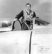 Airplane Pictures - Col. Harrison R. Thyng with his F-86 Sabre