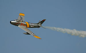 Airplane Pictures - A North American F-86 during the Oshkosh Air Show
