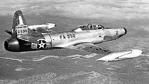 Airplane Picture - A USAF F-94B Starfire in flight