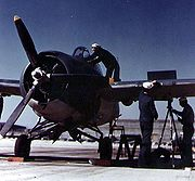 Airplane Pictures - F4F-4 receives maintenance of its six M2 Browning machine guns