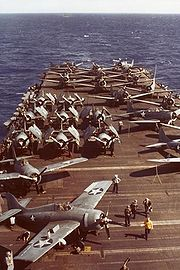 Airplane Pictures - Grumman F4F-4 Wildcats on USS Wasp 1942