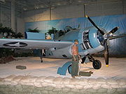 Airplane Pictures - F4F3 in Guadalcanal Diorama at the Pacific Aviation Museum, Honolulu, HI USA