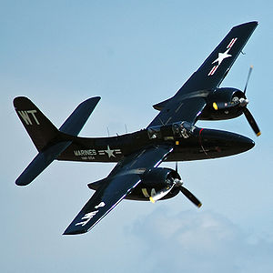 Airplane Pictures - United States Marine Corps F7F-3P in flight
