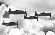 Airplane Pictures - On 25 August 1946, the Blue Angels transitioned to the Grumman F8F-1 Bearcat and introduced the famous diamond formation