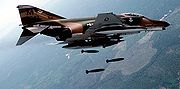 Airplane Pictures - McDonnell Douglas F-4E Phantom II making a practice bombing run