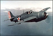 Airplane Pictures - Grumman F4F-3 Wildcat on patrol in early 1942