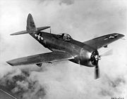 Airplane Pictures - A Republic P-47N Thunderbolt in flight, The plane shown is an XP-47N prototype (as seen in its tail)