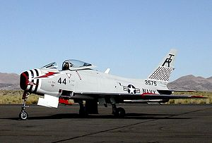 The last flying FJ-4 in United States Navy colors