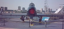 A Fury displayed on the flight deck of the USS Intrepid museum ship